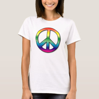 Peace Ladies Baby Doll (Fitted) T-Shirt