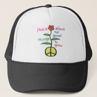 Peace Lets Grow Trucker Hat
