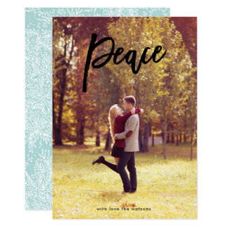 Peace Lettering Christmas Religious Photo Card