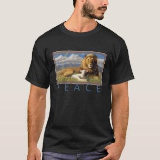 Peace Lion and Lamb t shirt black