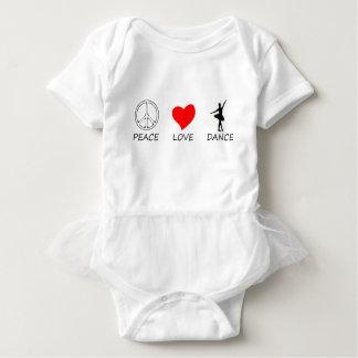 peace love12 baby bodysuit