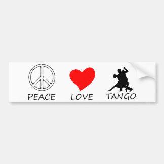 peace love14 bumper sticker