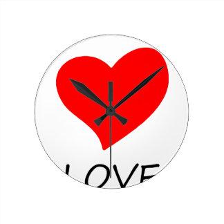 peace love14 round clock