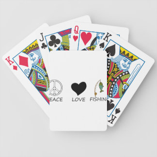 peace love18 bicycle playing cards