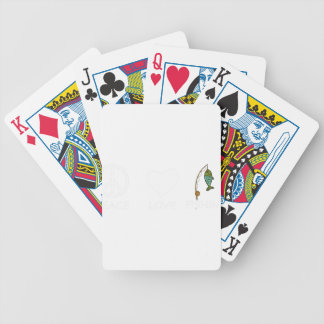 peace love19 bicycle playing cards