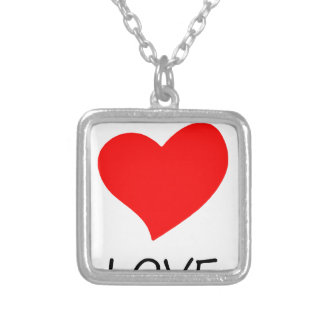 peace love20 silver plated necklace