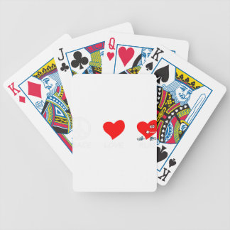 peace love21 bicycle playing cards