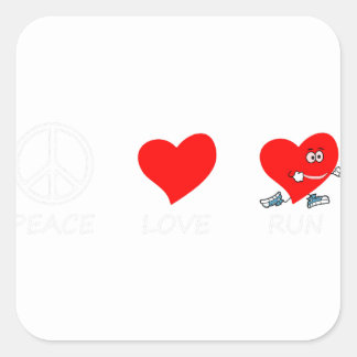 peace love21 square sticker