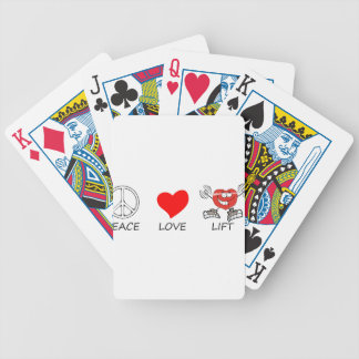 peace love22 bicycle playing cards