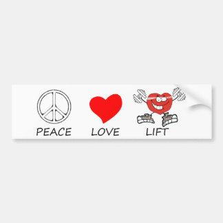 peace love22 bumper sticker