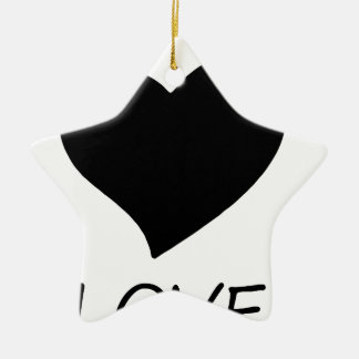 peace love2 ceramic ornament