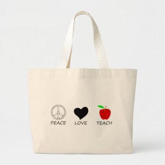 peace love2 large tote bag