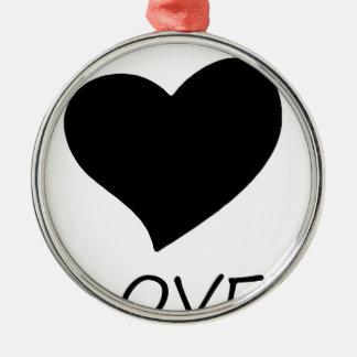 peace love2 metal ornament
