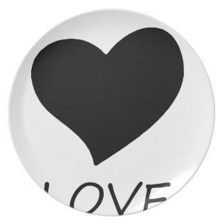 peace love2 plate