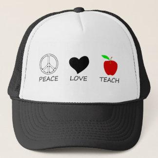 peace love2 trucker hat