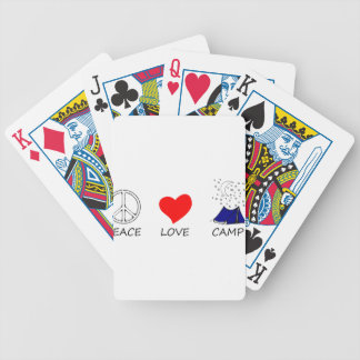 peace love35 bicycle playing cards