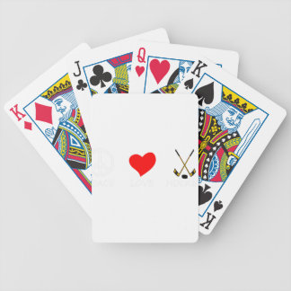 peace love37 bicycle playing cards