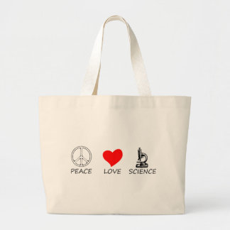 peace love3 large tote bag
