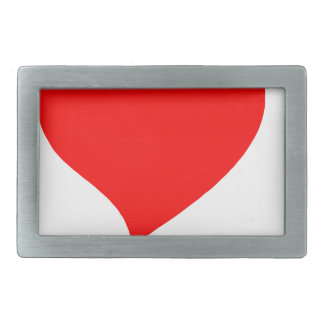 peace love3 rectangular belt buckle