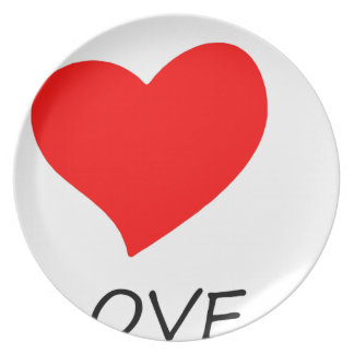 peace love40 plate