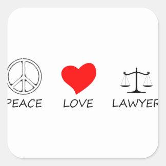 peace love40 square sticker