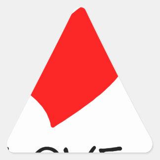peace love40 triangle sticker