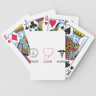 peace love42 bicycle playing cards