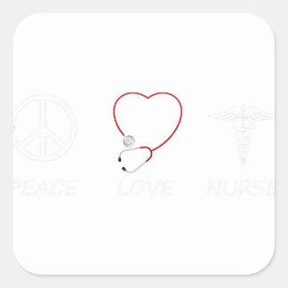 peace love43 square sticker