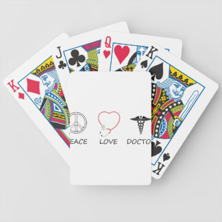 peace love44 bicycle playing cards