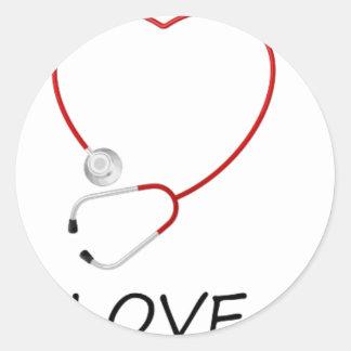 peace love44 classic round sticker