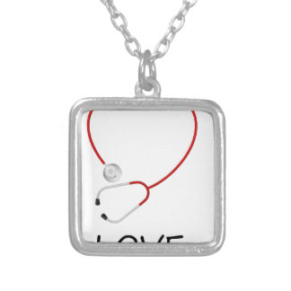 peace love44 silver plated necklace