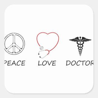 peace love44 square sticker