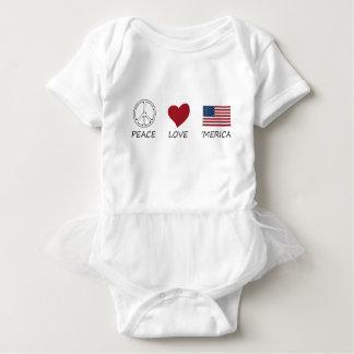 peace love45 baby bodysuit