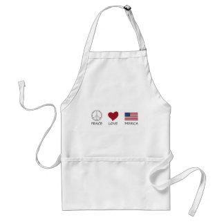 peace love45 standard apron