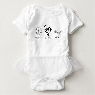 peace love46 baby bodysuit