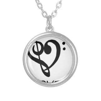 peace love46 silver plated necklace