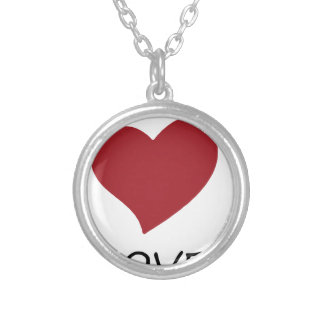 peace love48 silver plated necklace