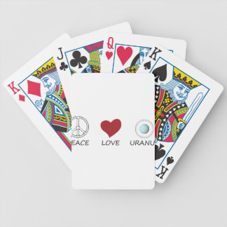 peace love49 bicycle playing cards