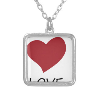 peace love49 silver plated necklace