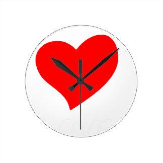 peace love4 round clock