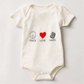 peace love5 baby bodysuit