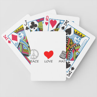 peace love5 bicycle playing cards