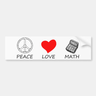 peace love5 bumper sticker