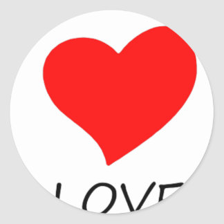 peace love5 classic round sticker