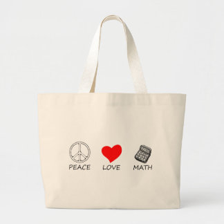 peace love5 large tote bag