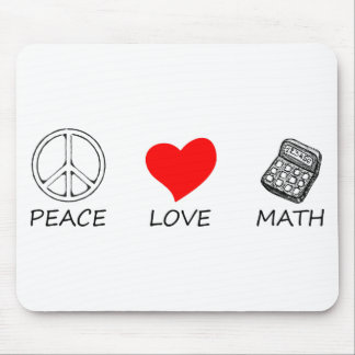 peace love5 mouse pad