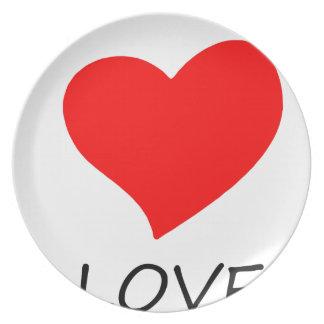peace love5 plate