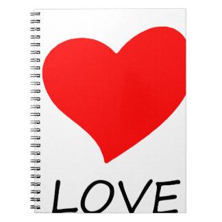 peace love5 spiral notebook