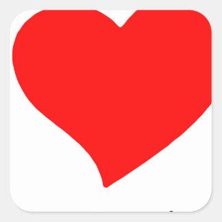 peace love5 square sticker