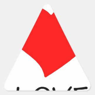 peace love5 triangle sticker